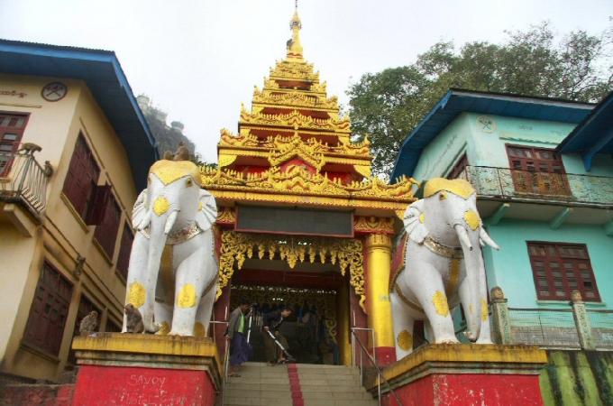voyage,birmanie,mont popa