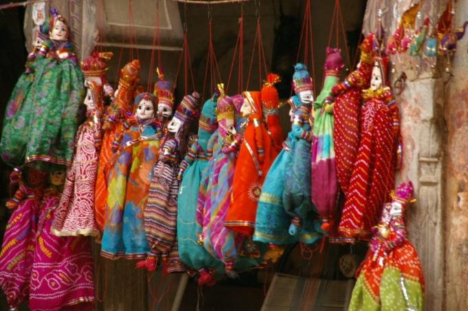 inde, rajasthan, marionnettes