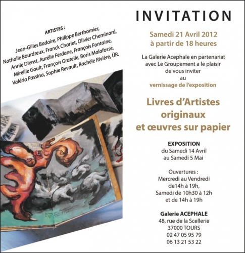 galerie, acephale, exposition