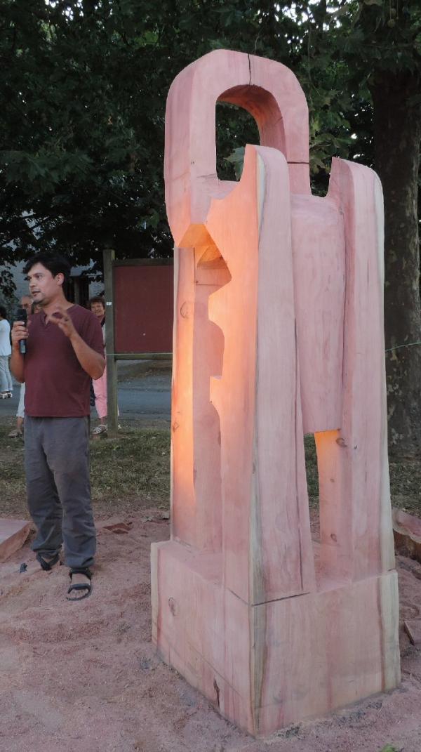 sculpture,tronçonneuse,foussais payré